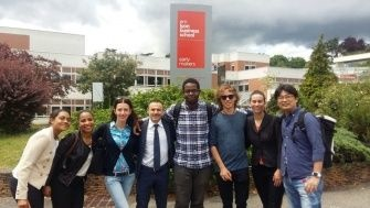 In front of the sign of EMLYON